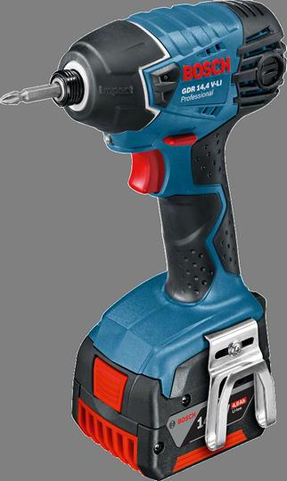 Шуруповерт  Bosch GDR 14,4 V-LI 4.0Ah x2 L-BOXX [06019A140F]Дрели, шуруповерты, гайковерты<br>- Инновационные аккумуляторы CoolPack обеспечивают оптимальный отвод тепла и тем самым увеличивают срок службы на 100 % &amp;#40;ср. литий-ионные аккумуляторы без CoolPack&amp;#41;<br>- Bosch Electronic Cell Protection &amp;#40;ECP&amp;#41;: система защиты аккумулятора от перегрузки, перегрева и глубокого разряда<br>- Исключительная прочность: благодаря эластичному корпусу Durashield инструмент сохраняет полную работоспособность даже после падения на бетон с высоты 2 м<br>- Удобный индикатор заряда: показывает уровень заряда аккумулятора в любое время<br><br>Тип: шуруповерт<br>Тип инструмента: ударный<br>Тип патрона: под биты<br>Количество скоростей работы: 1<br>Питание: от аккумулятора<br>Импульсный режим: есть<br>Возможности: реверс, электронная регулировка частоты вращения<br>Тип аккумулятора: Li-Ion<br>Время зарядки аккумулятора: 0.75 ч<br>Съемный аккумулятор: есть
