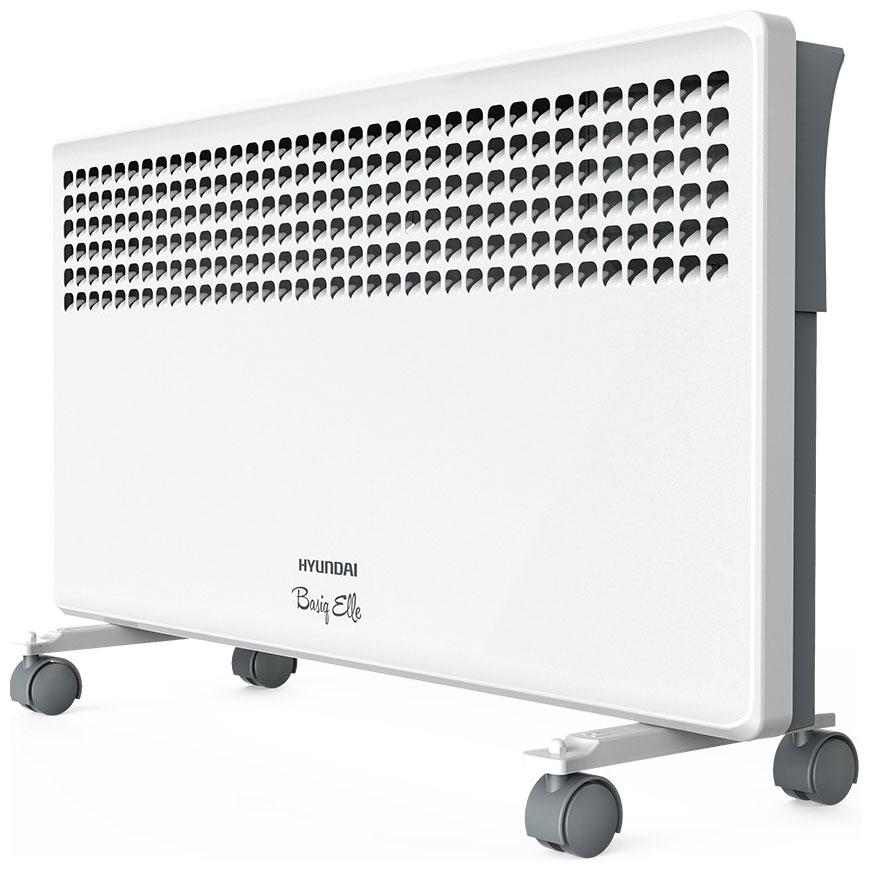 Конвектор Hyundai H-HV7-15-UI641Обогреватели<br>Лицевая панель электроконвектора Hyundai &amp;#40;Хендай&amp;#41; H-HV7-15-UI641 имеет интересное дизайнерское решение, технология объемной тепловой волны, предусмотренная устройством, позволяет обогревать комнату без резких перепад температуры в любом месте помещения. Обогреватель имеет облочку с высоким классом защиты от влаги &amp;#40;IP24&amp;#41;. Термостат позволяет регулировать точную температуру, тем самым способствуя энергосбережению.<br><br>- Технология объемной тепловой волны.<br>- Монолитный нагревательный элемент со сроком службы более 25 лет.<br>- Три ступени мощности нагревательного...<br><br>Тип: конвектор<br>Максимальная мощность обогрева: 1500 Вт<br>Площадь обогрева, кв.м: 20<br>Влагозащитный корпус: есть<br>Управление: электронное<br>Колеса для перемещения: есть<br>Напряжение: 220/230 В<br>Габариты: 403x610x90 см