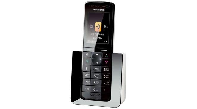 Радиотелефон Panasonic KX-PRS110RUWРадиотелефон Dect<br>Что объединяет в себе Panasonic kx prs110ruw?<br>Кто сказал, что радиотелефон должен быть только надежным и качественным? Мы категорически с этим не согласны, ведь телефон должен еще уметь сделать ваше общение дома и на работе комфортным, а также он еще должен радовать глаз. Значит, радиотелефон должен быть качественным, надежным, а еще функциональным, а также иметь стильный и модный дизайн. Вы согласны? А теперь мы предлагаем вам именно такую модель — радиотелефон Panasonic kx prs110ruw, который объединил в одном тонком корпусе все эти свойства!<br>Полный набор всех полезных...<br><br>Тип: Радиотелефон<br>Количество трубок: 1<br>Время работы трубки (режим разг. / режим ожид.): 11/150<br>Полифонические мелодии: 40<br>Дисплей: цветной TFT дисплей<br>Подсветка кнопок на трубке: Есть<br>Журнал номеров: 50