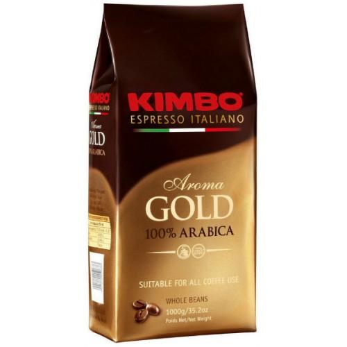 Кофе в зернах Kimbo Aroma Gold Arabica bag 1кгКофе и чай<br>Kimbo Gold Arabica для утонченных кофеманов.<br>Любители утонченных и вкусных напитков придут в восторг от зернового кофе Kimbo Gold Arabica. Только лишь один его аромат способен поднять настроение, а его вкус с изысканной кислинкой — это истинное произведение кофейного искусства!<br>Отборные сорта стопроцентной арабики, фирменная средняя обжарка зерен, мягкость и тонкость вкуса с первого глотка: кофе Kimbo Gold Arabica станет настоящим бриллиантом в вашей кофейной коллекции! Специально разработанная вакуумная упаковка с клапаном сохранит уникальные качества кофе, ...<br><br>Тип: кофе в зернах<br>Характеристика вкуса: Кислинка<br>Обжарка кофе: средняя<br>Кофеин: С кофеином<br>Состав: 100% Арабика