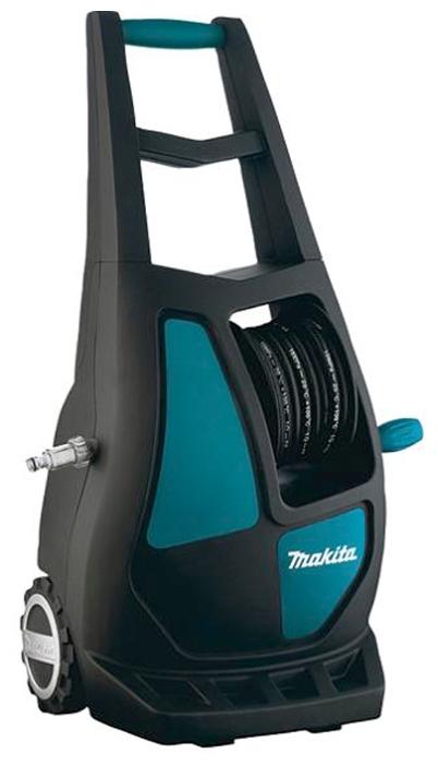 Мойка высокого давления Makita HW132Мойки высокого давления<br><br><br>Давление, Бар: 140<br>Производительность, л/час: 420<br>Потребляемая мощность: 2.1 кВт·ч<br>Насадки: щетка<br>Шланг ВД: способ хранения: катушка, длина 8 м