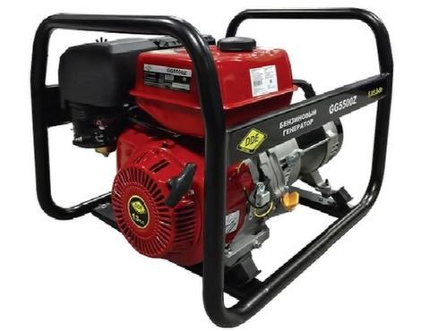 Электрогенератор DDE GG5500ZЭлектрогенераторы<br><br><br>Тип электростанции: бензиновая<br>Тип запуска: ручной<br>Число фаз: 1 (220 вольт)<br>Тип охлаждения: воздушное<br>Объем бака: 6.5 л<br>Активная мощность, Вт: 5000