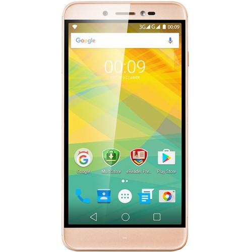 Мобильный телефон Prestigio Grace Z5 5530 GoldМобильные телефоны<br><br><br>Тип: Смартфон<br>Стандарт: GSM 900/1800/1900, 3G<br>Тип трубки: классический<br>Поддержка двух SIM-карт: есть<br>Операционная система: Android 6.0<br>Встроенная память: 8 Гб<br>Фотокамера: 13 млн пикс., светодиодная вспышка (фронтальная и тыльная)<br>Форматы проигрывателя: MP3<br>Спутниковая навигация: GPS<br>Процессор: 1300 МГц