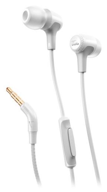 Наушники JBL E15 WhiteНаушники и гарнитуры<br><br><br>Тип: наушники<br>Вид наушников: Вставные<br>Тип подключения: Проводные<br>Диапазон воспроизводимых частот, Гц: 20 - 20000<br>Сопротивление, Импеданс: 16 Ом<br>Микрофон: есть
