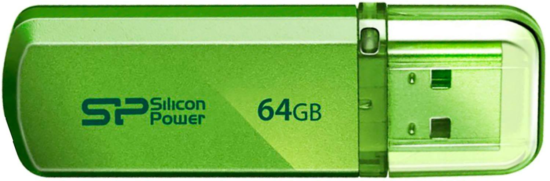 Флеш накопитель Silicon Power Helios 101 64Gb Green / SP064GBUF2101V1NFlash накопители<br><br><br>Объем памяти: 64 Гб<br>Интерфейс: USB 2.0<br>Материал корпуса: металл