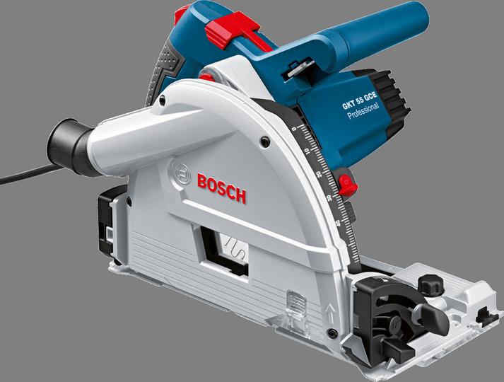 Дисковая пила Bosch GKT 55 GCE [0601675000]Пилы<br><br><br>Тип: дисковая<br>Конструкция: ручная<br>Мощность, Вт: 1400<br>Функции и возможности: плавный пуск, электронная защита двигателя, плавная регулировка скорости, подключение пылесоса