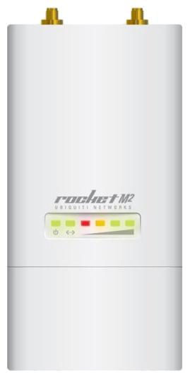 Wi-Fi точка доступа Ubiquiti RocKet M2Оборудование Wi-Fi и Bluetooth<br>Точка доступа Ubiquiti Rocket M2 предназначена для создания производительных базовых станций WiFi. Благодаря радиочасти мощностью 28 dBm максимальная дальность соединения достигает 50 км при использовании направленных антенн. Первый запуск базы очень важен, ее настройка и конфигурация c Windows осуществляется по средствам специального ПО.<br><br>Всепогодная точка доступа WiFi 2.4ГГц MIMO Ubiquiti Rocket M2 внешний вид<br>Достаточный объем оперативной памяти позволяет быстро обслуживать их всех, не теряя пакеты, не создавая очередей на обслуживание, что увеличивает производительность...<br><br>Тип: Wi-Fi точка доступа<br>Стандарт беспроводной связи: 802.11n, частота 2.4 ГГц<br>Объем оперативной памяти: 32 Мб<br>Объем флеш-памяти: 8 Мб