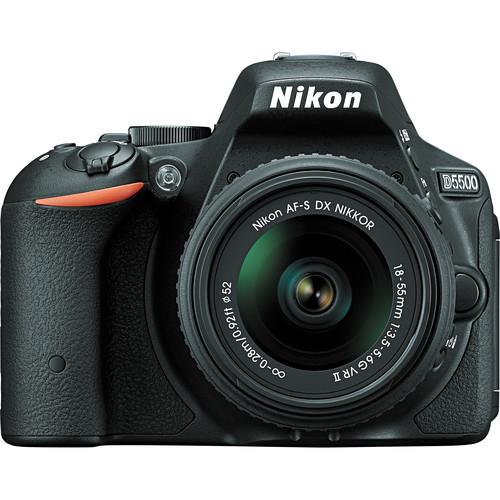 Зеркальный фотоаппарат Nikon D5500 KIT 18-55 VR (AF-P), BlackЦифровые зеркальные фотоаппараты<br><br><br>Тип: Цифровая зеркальная фотокамера<br>Стабилизатор изображения: нет<br>Носители информации: CompactFlash, SD, SDHC, SDXC<br>Видеорежим: есть<br>Звук в видеоклипе: есть<br>Вспышка: есть<br>Кроп фактор: 1.5<br>Тип матрицы: CMOS<br>Размер матрицы: APS-C (23.5 x 15.6 мм)<br>Число эффективных пикселов, Mp: 24.2 млн