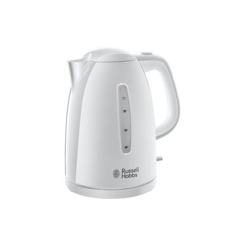 Электрочайник Russell Hobbs 21270-70 Textures White KettleЧайники и термопоты<br>Чайник Textures сочетает в себе стиль, качественные характеристики и функциональность. Он притягивает к себе взгляды благодаря своей уникальной матово-глянцевой отделке.<br><br>Емкость чайника 1,7 литра достаточна, чтобы приготовить до шести чашек кипятка, что делает его идеальным для семейного чаепития. А если вы не хотите тратить время на кипячение полного чайника, зоны быстрого кипячения позволят вам сэкономить время и электроэнергию на приготовление кипятка на 1-3 чашки. С помощью зон быстрого кипячение на приготовление одной чашки у вас уйдет всего...<br><br>Тип   : Электрочайник<br>Объем, л  : 1.7<br>Мощность, Вт  : 3000<br>Тип нагревательного элемента: Закрытая спираль<br>Материал корпуса  : пластик<br>Вращение на 360 градусов  : Есть<br>Индикатор уровня воды  : Есть<br>Блокировка крышки  : Есть<br>Фильтр  : Есть