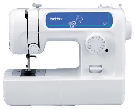 Швейная машина Brother X-7Швейные машины<br>Brother X-7: шитье может быть увлекательным!<br>Электромеханическая швейная машина Brother X-7 с ротационным горизонтальным челноком идеально подойдет тем, кто начинает обучаться швейному искусству. Она отлично справляется со всеми видами ткани и пригодится вам как для домашнего ремонта одежды, так и для создания ваших первых модных моделей.<br>X-7 — машинка, которая проста и удобна в эксплуатации, чтобы полностью разобраться с ее функциями и возможностями вам потребуется не более получаса. Плавный ход, яркое освещение рабочей зоны, возможность шитья двойной...<br><br>Тип: электромеханическая<br>Тип челнока: ротационный горизонтальный<br>Количество швейных операций: 14<br>Выполнение петли: полуавтомат<br>Максимальная длина стежка: 4 мм<br>Максимальная ширина стежка: 5.0 мм<br>Потайная строчка : есть<br>Эластичная строчка : есть<br>Кнопка реверса: есть<br>Рукавная платформа: есть