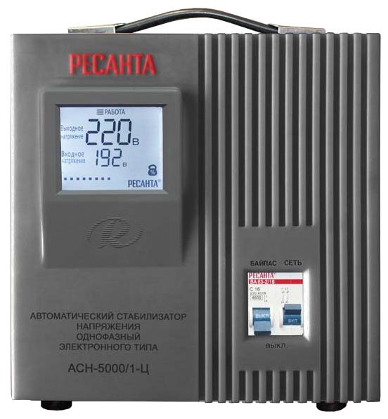 Стабилизатор напряжения Ресанта ACH-5000/1-ЦСетевые фильтры и стабилизаторы<br><br><br>Тип: стабилизатор напряжения