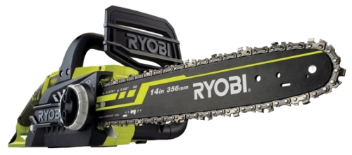 Электрическая цепная пила Ryobi RCS1935 (3002184)Пилы<br>Цепная пила Ryobi RCS1935 3002184 укомплектована хорошей гарнитурой компании Oregon, которая обеспечивает низкий уровень вибрации. Выполняет чистое пиление древесины и предназначена для бытового использования. Рукоятка обеспечивает удобную работу с пилой в любом положении. Натяжение цепи производиться легко без использования инструмента. Предусмотрена система остановки цепи, а также блокировка от случайного пуска, что обеспечивает безопасность при пилении.<br><br>- Отсутствие выхлопов - возможность работы в закрытом помещении;<br>- Инерционный тормоз цепи ...<br><br>Тип: электрическая цепная<br>Конструкция: ручная<br>Мощность, Вт: 1900<br>Функции и возможности: тормоз цепи