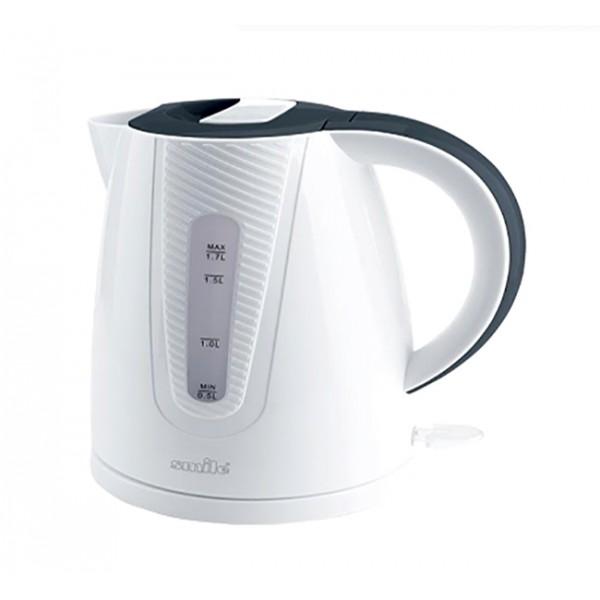 Электрочайник Smile WK 5308Чайники и термопоты<br><br><br>Тип   : Электрочайник<br>Объем, л  : 1.7<br>Тип нагревательного элемента: Закрытая спираль<br>Материал корпуса  : пластик<br>Вращение на 360 градусов  : Есть<br>Индикация включения  : Есть<br>Индикатор уровня воды  : Есть<br>Отсек для хранения шнура: Есть