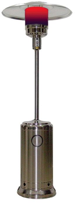 Уличный газовый обогреватель Aesto А-02Газовые обогреватели<br>Газовые уличные инфракрасные обогреватели&amp;nbsp;&amp;nbsp;делают возможным длительное нахождение на воздухе в прохладное время. Они создадут атмосферу уюта на отрытой местности: веранде, дачном участке, кафе и ресторане. Эти приборы обеспечивают теплое окружение вокруг себя - 6 м в диаметре. Они идеальны, когда нужен мобильный и простой в эксплуатации источник тепла.<br> <br>Обогреватель AESTO A02 имеет стильный дизайн и наверняка подойдет Вашему интерьеру. Материал, из которого он изготовлен&amp;nbsp;&amp;nbsp;- нержавеющая сталь. Это обеспечивает стойкость к любым воздействиям...<br><br>Тип: газовый обогреватель<br>Расход газа: 0,45 - 0,87 кг/ч<br>Тип топлива: сжиженный пропан-бутан<br>Радиус обогрева, м: 5<br>Способ поджига: пьезо<br>Описание: покрытие: нержавеющая сталь. Высота обогревателя: 2,2 м. Диаметр отражателя: 81,3 см (алюминий). Подходит под газовый баллон 27 литров (высота 59 см, диаметр 30 см)