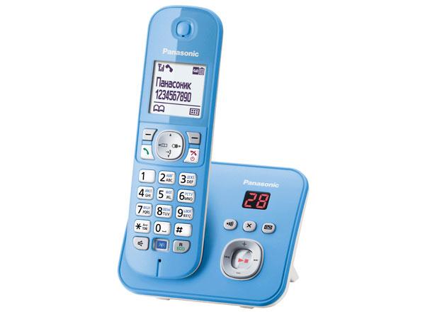 Радиотелефон Panasonic KX-TG6821RUFРадиотелефон Dect<br><br><br>Тип: Радиотелефон<br>Количество трубок: 1<br>Рабочая частота: 1880-1900 МГц<br>Стандарт: DECT/GAP<br>Возможность набора на базе: Нет<br>Проводная трубка на базе : Нет<br>Время работы трубки (режим разг. / режим ожид.): 15 / 170 ч<br>Дисплей: на трубке, 2 строки<br>Подсветка кнопок на трубке: Есть<br>Журнал номеров: 50