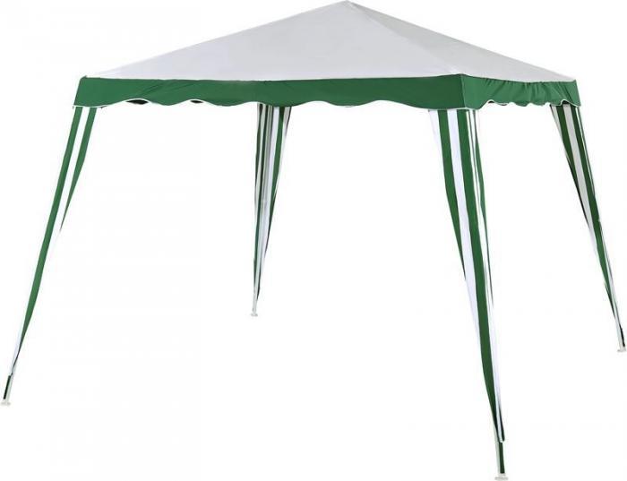 Садовый тент-шатер Green Glade 1017Садовые тенты и шатры<br>Дачный тент шатер 1017 защитит вас и от яркого летнего солнца. Тент шатер green glade 1017 изготавливаются из современных высококачественных материалов. Современный садовый тент шатер green glade быстро и легко устанавливаются, имеют великолепный внешний вид. Этот тент шатер можно брать с собой на отдых в лесу – в сложенном виде он не занимает много места и легко поместиться в любом автомобиле.<br><br>Кемпинговый тент шатер оптимален для проведения мероприятий на открытом воздухе. Если вы решили провести пикник на свежем воздухе, вы сможете без труда установить...<br><br>Тип: Садовый тент-шатер<br>Покрытие: сетчатый полиэтилен 120 г.<br>Каркас: металлическая трубка (19х19х25 мм)<br>Размеры упаковки: 115х13х17 см.