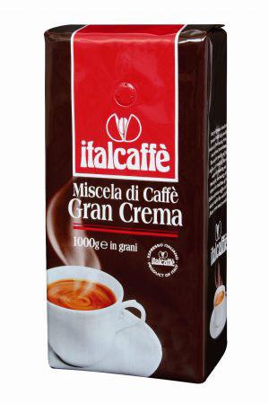 Кофе в зернах Italcaffe Gran Crema 1 кгКофе, какао<br>Великолепная смесь для тех, кто любит кофе с густой пенкой и насыщенным вкусом.<br><br>Кофе GRAN CREMA с лучших плантаций Бразилии, Колумбии, Коста-Рики и Берега Слоновой Кости для настоящих гурманов, ценящих вкусный традиционный итальянский кофе.<br><br>Высококачественный кофе ItalCaffe итальянской обжарки с лучших кофейных плантаций Бразилии, Колумбии, Коста-Рики, Гватемалы, Гондураса, Камеруна, Кот д`Ивуара и некоторых других стран.<br><br>Идеально подходит для приготовления настоящего итальянского эспрессо в кофемашине, кофеварке или гейзере.<br><br>Тип: кофе в зернах<br>Состав: 100% Арабика<br>Дополнительно: состав: 100% арабика. Зерна в вакуумных упаковках с односторонним клапаном