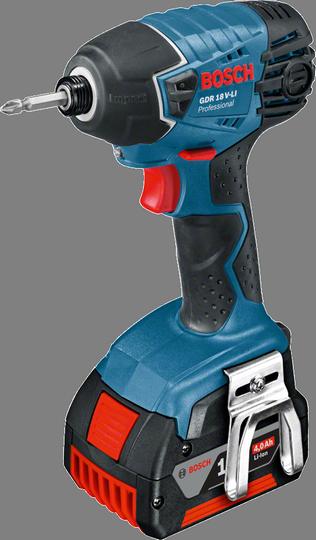 Шуруповерт  Bosch GDR 18 V-LI 0 [06019A130F]Дрели, шуруповерты, гайковерты<br>- Инновационные аккумуляторы CoolPack обеспечивают оптимальный отвод тепла и тем самым увеличивают срок службы на 100 % &amp;#40;ср. литий-ионные аккумуляторы без CoolPack&amp;#41;<br>- Уникальная литий-ионная технология класса Premium от Bosch для большего времени работы на одном заряде<br>- Bosch Electronic Cell Protection &amp;#40;ECP&amp;#41;: система защиты аккумулятора от перегрузки, перегрева и глубокого разряда<br>- Удобный индикатор заряда: показывает уровень заряда аккумулятора в любое время<br><br>Тип: шуруповерт<br>Тип инструмента: ударный<br>Тип патрона: под биты<br>Количество скоростей работы: 1<br>Питание: от аккумулятора<br>Импульсный режим: есть<br>Возможности: реверс, электронная защита от перегрузок, электронная регулировка частоты вращения<br>Съемный аккумулятор: есть<br>Кейс в комплекте: есть