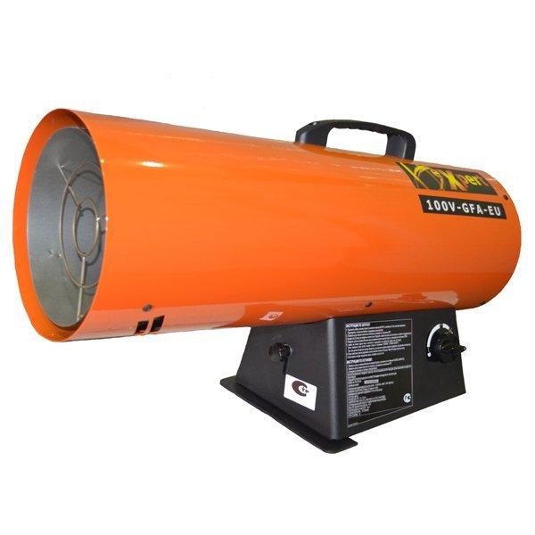 Тепловая пушка газовая Expert 100V-GFA-EUТепловые пушки и завесы<br><br><br>Тип: тепловая пушка газовая<br>Мощность обогрева, Вт: 28400<br>Максимальный расход топлива: 2 кг/ч<br>Производительность: 1155 м3/ч<br>Вес: 9.4 кг