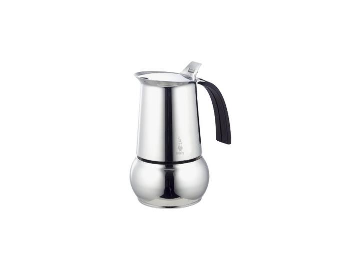 Кофеварка Bialetti Kitty Nera Elegance 4 п. 1712Кофеварки и кофемашины<br>- Изящная кофеварка из нержавеющей стали.<br>- На корпусе нанесен знаменитый знак Bialetti -  Человечек с усами. <br>- Предохранительный клапан давления.<br>- Ручка из необжигающего термостойкого материала. <br>- Кнопка из стали.<br>- Для приготовления кофе на электрических и газовых плитах, а так же других нагревающих поверхностях.<br><br>Тип : гейзерная кофеварка<br>Объем, л: 0.16
