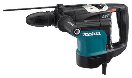 Перфоратор Makita HR4510CПерфораторы<br><br><br>Тип крепления бура: SDS-Max<br>Количество скоростей работы: 1<br>Потребляемая мощность: 1350 Вт<br>Макс. энергия удара: 13 Дж<br>Макс. диаметр сверления (бетон): 45 мм<br>Питание: от сети<br>Возможности: антивибрационная система, электронная регулировка частоты вращения, индикатор износа угольных щеток