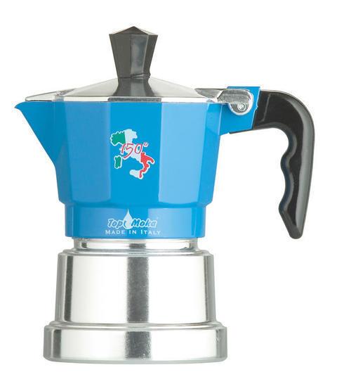Кофеварка Top Moka 150 Italian Republic 3 п. argento BlueКофеварки и кофемашины<br><br><br>Тип : гейзерная кофеварка<br>Объем, л: 0,12<br>Материал корпуса  : Металл