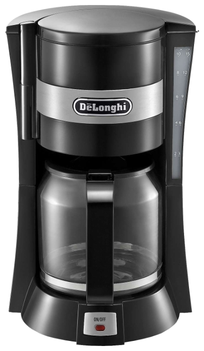 Кофеварка Delonghi ICM 15210Кофеварки и кофемашины<br><br><br>Тип : капельная кофеварка<br>Тип используемого кофе: Молотый<br>Мощность, Вт: 900<br>Объем, л: 1.25<br>Фильтр  : Постоянный /Одноразовый