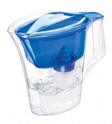 Кувшин Барьер Танго BlueФильтры и умягчители для воды<br>НОВИНКА! Фильтр-кувшин для воды Барьер Танго. Узкий корпус с элегантным рисунком. <br><br>Кувшин изготовлен из высококачественного пластика BASF, допущенного для контакта с питьевой водой. <br>Возможность мыть в посудомоечной машине. <br>Кувшин декорирован элегантным рисунком. <br>Имеет удобную цельнолитую ручку, специальные пазы для надежного крепления воронки и крышки.<br>Широкий выступ на крышке кувшина, за который её удобно снимать и надевать.<br><br>Особенность фильтров-кувшинов БАРЬЕР — надежное резьбовое крепление кассеты к воронке кувшина, что исключает попадание...<br><br>Тип: фильтр-кувшин<br>Тип фильтра: кувшин<br>Подключение к водопроводу: нет