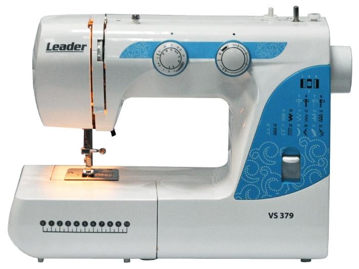 Швейная машина Leader VS 379Швейные машины<br><br><br>Тип: электромеханическая<br>Тип челнока: качающийся<br>Вышивальный блок: нет<br>Количество швейных операций: 22<br>Выполнение петли: полуавтомат<br>Максимальная длина стежка: 4.0 мм<br>Максимальная ширина стежка: 5.0 мм<br>Потайная строчка : есть<br>Эластичная строчка : есть<br>Кнопка реверса: есть