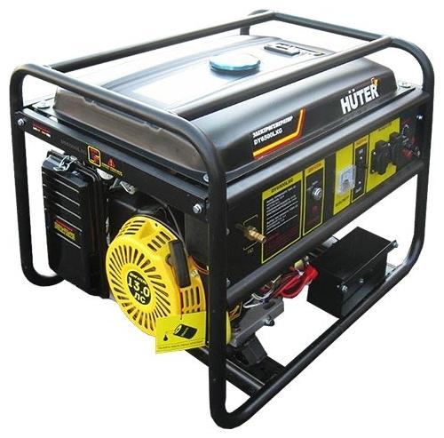 Электрогенератор Huter DY6500LXGЭлектрогенераторы<br>- Генератор Huter DY6500LXG является автономным альтернативным или аварийным источником переменного тока бытовых параметров. Независимость его обеспечена за счет собственного топливного бака.<br>- В качестве движущей силы используется комбинированный &amp;#40;бензин и газовое топливо&amp;#41; двигатель с принудительным воздушным охлаждением с электростартером.<br>- Система надежно защищена от аварийных перегрузок и короткого замыкания в цепи потребителя.<br>- Наличие специального счетчика, учитывающего суммарное время работы, позволит своевременно производить ...<br><br>Тип электростанции: газо-бензиновая<br>Тип запуска: ручной, электрический<br>Число фаз: 1 (220 вольт)<br>Тип охлаждения: воздушное<br>Объем бака: 22 л<br>Тип генератора: синхронный<br>Активная мощность, Вт: 5000<br>Защита от перегрузок: есть