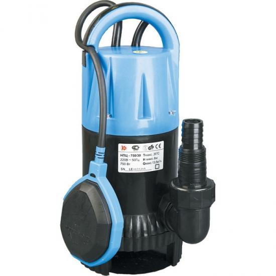 Насос Калибр НПЦ-750/35ПНасосы<br>поплавковый выключатель - автоматически отключает насос при падении уровня воды ниже установленного, и включает его при достижении заданного;<br>компактность, простота в эксплуатации, возможность переноса;<br><br>- для водозабора из резервуаров или рек, откачивания воды из плавательных бассейнов, колодцев, погребов;<br>- в системах полива и орошения, а также для понижения грунтовых вод.<br><br>Глубина погружения: 6 м<br>Максимальный напор: 8 м<br>Пропускная способность: 13.5 куб. м/час<br>Потребляемая мощность: 750 Вт<br>Качество воды: грязная<br>Размер фильтруемых частиц: 30 мм<br>Установка насоса: вертикальная