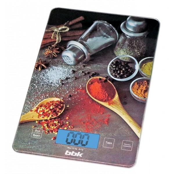 Кухонные весы BBK KS 100 G BlackВесы<br>Кухонные весы KS100G определят вес любых продуктов с точностью до 1 г.<br><br>Платформа имеет безопасные углы, выполнена из закаленного стекла, удобный и большой ЖК-дисплей показывает массу в единицах измерения на выбор – граммы &amp;#40;«g»&amp;#41;, жидкая унция &amp;#40;«fl oz»&amp;#41;, фунты &amp;#40;«lb»&amp;#41;, миллилитры &amp;#40;«ml»&amp;#41;.<br><br>Максимальная нагрузка достаточно велика – 10 кг. Функция тарокомпенсации позволяет вычитать вес посуды, в которой проводилось измерение, что очень удобно.<br><br>Тип: кухонные весы<br>Тип весов: электронные<br>Предел взвешивания, кг: 10<br>Точность измерения, г: 100