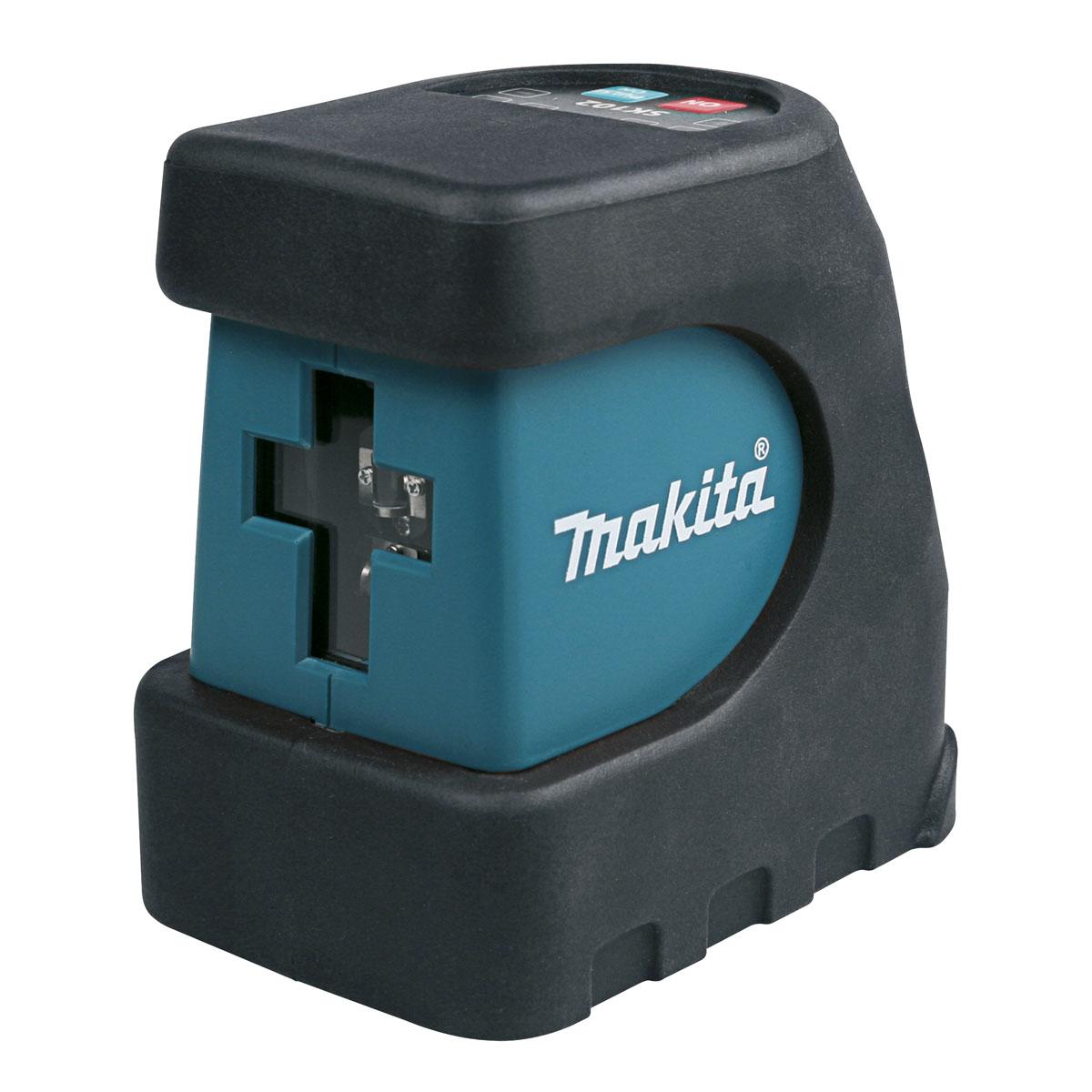 Лазерный уровень Makita SK102ZИзмерительные инструменты<br>- Возможность выбора включения горизонтального и вертикального луча, как по отдельности, так и вместе<br>- Рабочий диапазон 15 метров - при помощи детектора возможно увеличение зоны до 30 метров<br>- Функция выбора импульса возможна при помощи дополнительного аксессуара детектора<br>- Регулировка импульса позволяет уменьшать диапазон действия, а также сберегать энергию батарей.<br><br>Тип: Лазерный уровень<br>Класс лазера: 2<br>Диапазон измерений: 15 м<br>Точность измерений: 0,3 мм