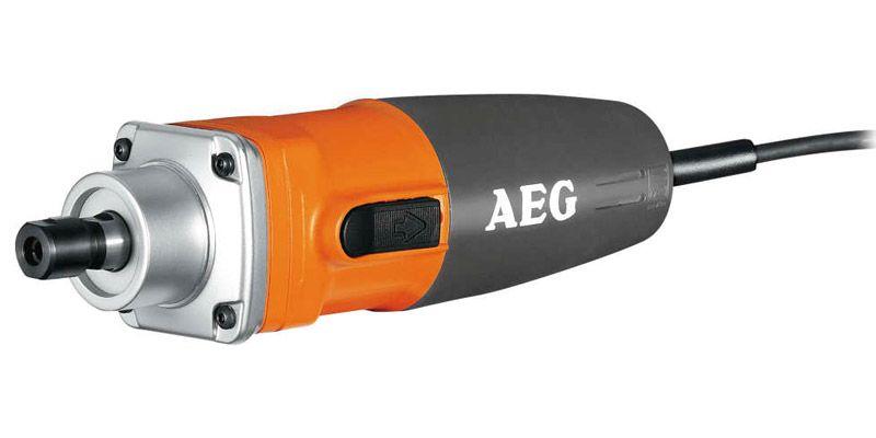 Прямая шлифмашина AEG 412985 GS 500 EШлифовальные и заточные машины<br>Прямая шлифовальная машина AEG GS 500 E предназначена для шлифования пластиковых, металлических и деревянных поверхностей.<br><br>Основные особенности:<br><br>- Высокоскоростная одноручная прямошлифовальная машина<br>- Электронная регулировка скорости<br>- Самоотключающиеся угольные щетки<br>- Металлический высокоскоростной редуктор<br>- Вес всего 1.3 кг<br>- Удобная кнопка включения<br>
