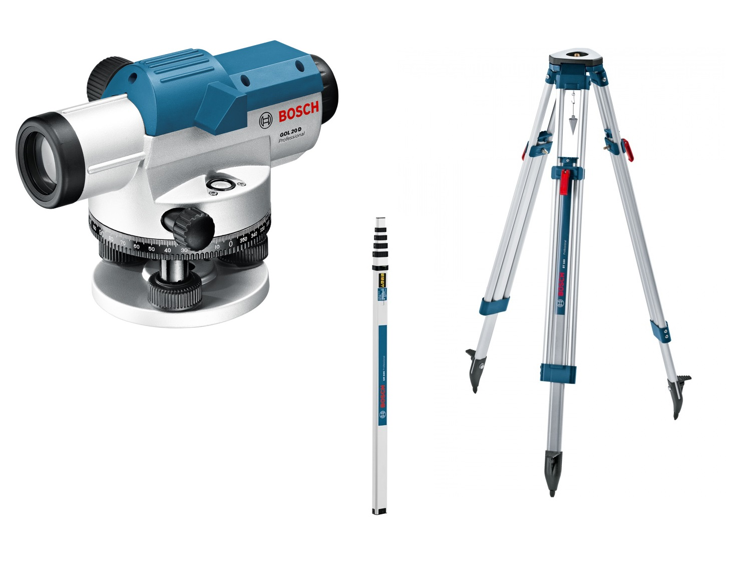 Оптический нивелир Bosch GOL 20 D + BT 160 + GR 500 Kit [0601068402]