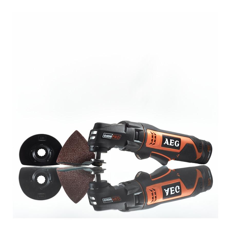 Многофункциональная шлифмашина AEG 446706 OMNI18C -0KIT1XШлифовальные и заточные машины<br>- Обеспечивает более высокую мощность и большую продолжительность работы чем база 12 В при сохранении той же мобильности<br>- Заменяемые без использования дополнительного инструмента насадки позволяют изменять назначение инструмента и максимально расширяют диапазон его применения<br>- Большой 2 - х пальцевый выключатель с функцией регулировки скорости<br>- Управление инструментом одной рукой<br>- Оптимальное соотношение мощности и веса<br>- LED подсветка рабочей области<br>- Встроенный индикатор уровня заряда<br>- Тонкая и эргономичная форма рукоятки для увеличения...<br><br>Описание: подсветка