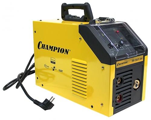Сварочный аппарат Champion IW-160/5,9 AIСварочные аппараты<br><br><br>Тип: сварочный инвертор<br>Сварочный ток (MMA): 15-140 А<br>Напряжение на входе: 160-260 В<br>Количество фаз питания: 1<br>Напряжение холостого хода: 60 В<br>Тип выходного тока: постоянный<br>Мощность, кВт: 5.90<br>Продолжительность включения при максимальном токе: 35 %<br>Диаметр электрода: 1.60-3.20 мм<br>Антиприлипание: есть