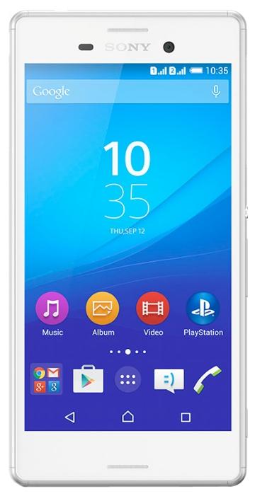 Мобильный телефон Sony Xperia M4 Aqua Dual (E2312) WhiteМобильные телефоны<br><br><br>Тип: Смартфон<br>Стандарт: GSM 900/1800/1900, 3G<br>Тип трубки: классический<br>Поддержка двух SIM-карт: есть<br>Операционная система: Android 5.0<br>Встроенная память: 8 Гб<br>Фотокамера: 13 млн пикс.<br>Форматы проигрывателя: MP3, WAV<br>Разъем для наушников: 3.5 мм<br>Спутниковая навигация: GPS/ГЛОНАСС