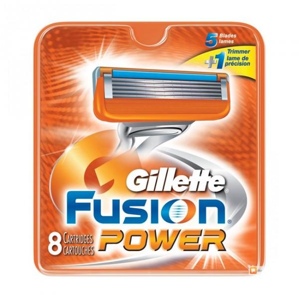 Сменные кассеты Gillette Fusion Power 8 шт