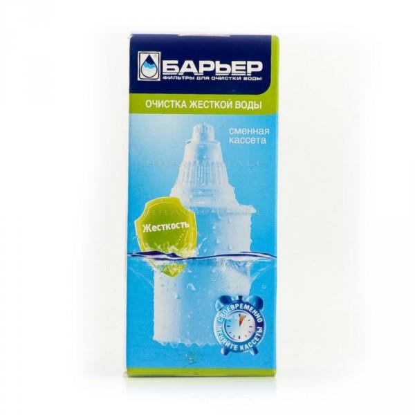 Сменная кассета для фильтра Барьер КБ-6Фильтры и умягчители для воды<br>Предназначение: для смягчения воды<br>Продолжительность работы картриджа: 350 л<br>Фильтрация: до 300 мл/мин<br>Температура используемой воды: до 40°С<br>Эффективность очистки: 95-100%<br>Материал: пластик<br>Наполнение: кокосовый активированный уголь, ионообменная смола<br>