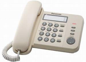 Проводной телефон Panasonic KX-TS2352RUJПроводные телефоны<br><br><br>Тип: проводной телефон<br>Количество линий : 1<br>Однокнопочный набор (количество кнопок): 3<br>Переадресация (Flash): есть<br>Повторный набор номера: есть<br>Тональный набор: есть<br>Кнопка выключения микрофона: есть<br>Регулятор уровня громкости: есть<br>Возможность настенной установки: есть<br>Порт для дополнительного оборудования: есть