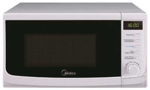 Микроволновая печь Midea AM 820 CWW-WМикроволновые печи<br><br><br>Объём, литров: 20<br>Тип: Микроволновая печь<br>Тип управления: Электронное<br>Дисплей: Есть<br>Переключатели: Тактовые\Кнопочные