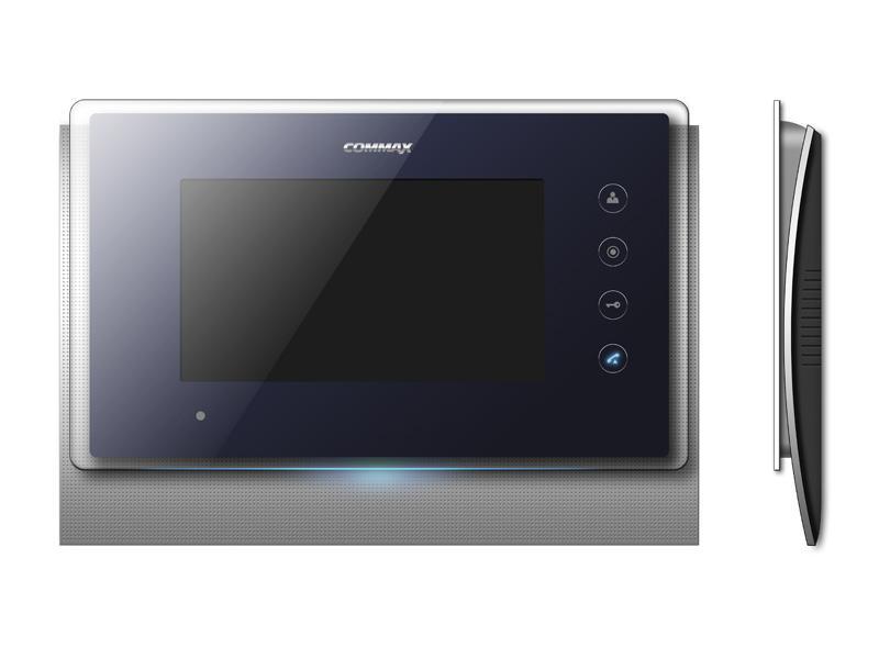 Видеодомофон Commax CDV-70UMДомофоны<br>Домофон COMMAX CDV-70UM имеет современный дизайн корпуса сделанный в стиле хай-тек. Под экраном домофона есть светодиодная подсветка которая создает легкое освещение и помогает сориентироваться в расположении домофона в темное время суток. Сенсорные кнопки управления домофоном стали неотъемлемой особенностью современных моделей домофонов. Сенсорные кнопки в домофоне CDV-70UM имеют несколько режимов свечения для удобства пользования.<br>Толщина CDV-70UM всего 33 мм. Корпус домофона выполнен из высококачественного&amp;nbsp;&amp;nbsp;пластика, экран и кнопки защищены...<br><br>Подключаемые видеопанели: 2<br>Тип экрана: LCD<br>Размер экрана (диагональ): 7<br>Кнопка управления замком: есть<br>&quot;Свободные руки&quot; (без трубки): есть<br>Память: на Micro SD карточку<br>Регулировка яркости: есть<br>Регулировка контраста: есть<br>Регулировка громкости: есть<br>Потребляемая мощность: 20 Вт