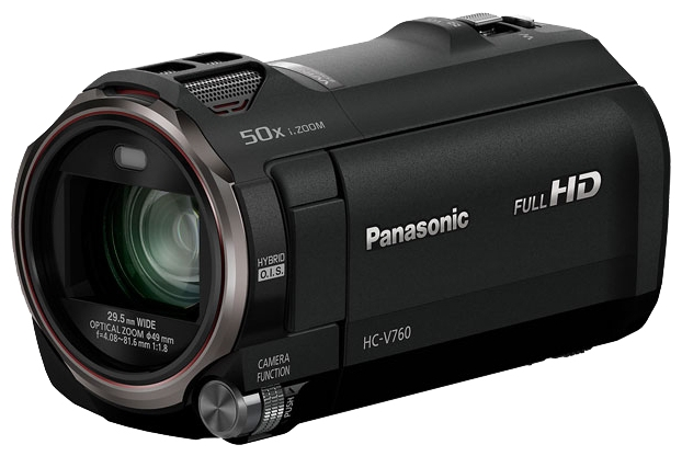 Видеокамера Panasonic HC-V760EE-KВидеокамеры<br><br><br>Тип: Flash<br>Поддержка видео высокого разрешения (Full HD): Есть<br>Максимальное разрешение видеосъемки: 1920x1080<br>Тип карты памяти: SD/SDHC/SDXC<br>Видоискатель: Отсутствует<br>Фоторежим: Есть<br>Число мегапикселов при фотосъемке Мпикс: 6.03 Мпикс<br>Широкоформатный режим фото: Есть<br>Тип матрицы: MOS<br>Количество матриц: 1