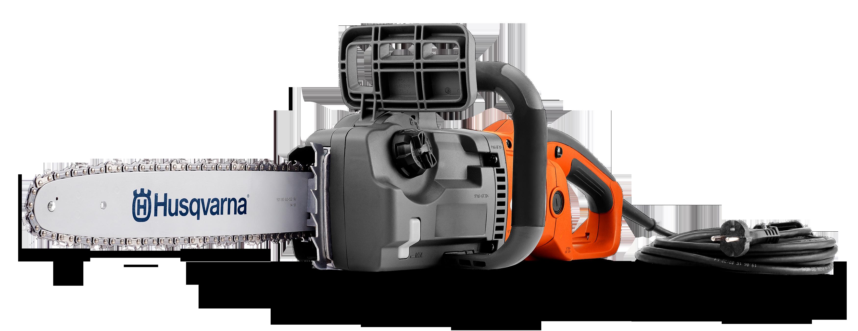 """Электрическая цепная пила Husqvarna 420ELПилы<br>Мощная цепная пила с приводом от электрической сети и потребляемой мощностью 2 кВт и пильной шиной, длиной 16""""/40см. Предназначена для пиления древесины при некоммерческого использовании. Создаваемые характеристики, реализуемый мгновенно после включения крутящий момент, обеспечивают высокую скорость и производительность пиления, а компактный корпус, практичный дизайн, мягкая передняя рукоятка, расположенная под углом 90 градусов и натяжение цепи без какого-либо инструмента – манёвренность и эргономичность конструкции. Идеальный инстру...<br><br>Тип: электрическая цепная<br>Конструкция: ручная<br>Мощность, Вт: 2000<br>Функции и возможности: тормоз цепи"""