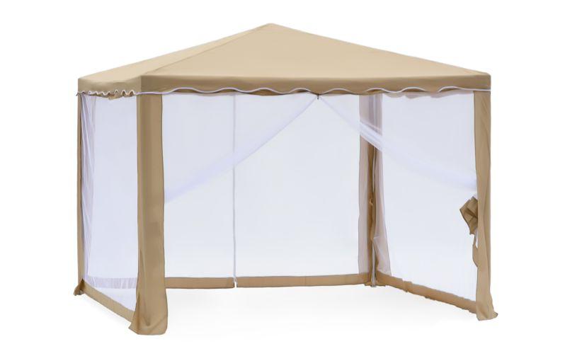 Садовый тент-шатер Green Glade 1040Садовые тенты и шатры<br>Тент шатер green glade 1040 изготавливается из современных высококачественных материалов, дачный тент шатер 1040 защитит вас и от яркого летнего солнца. Современный садовый тент шатер green glade быстро и легко устанавливаются, имеют великолепный внешний вид. Беседка тент шатер для дачи 1040 имеет в комплектации москитную сетку – она позволит спокойно отдыхать, не обращая внимания на комаров, мух и прочих назойливых насекомых, которые так часто досаждают летом.<br><br>Кемпинговый тент шатер оптимален для проведения мероприятий на открытом воздухе. Если вы решили...<br><br>Тип: Садовый тент-шатер<br>Покрытие: полиэстер 160 г<br>Каркас: металлическая трубка (19х19х25 мм)<br>Размеры упаковки: 115х17х23 см