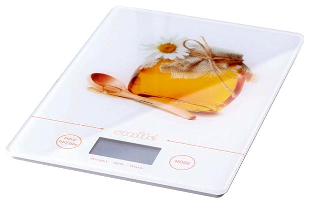 Кухонные весы SMILE KSE 3219Весы<br><br><br>Тип: кухонные весы<br>Тип весов: электронные<br>Предел взвешивания, кг: 5<br>Точность измерения, г: 1
