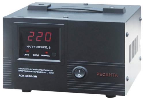 Стабилизатор напряжения Ресанта ACH-500/1-ЭМСетевые фильтры и стабилизаторы<br><br><br>Тип: стабилизатор напряжения