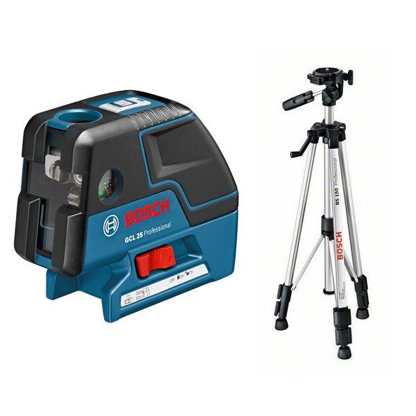 Точечный лазер Bosch GCL 25 + BS 150 [0601066B01]Измерительные инструменты<br><br>