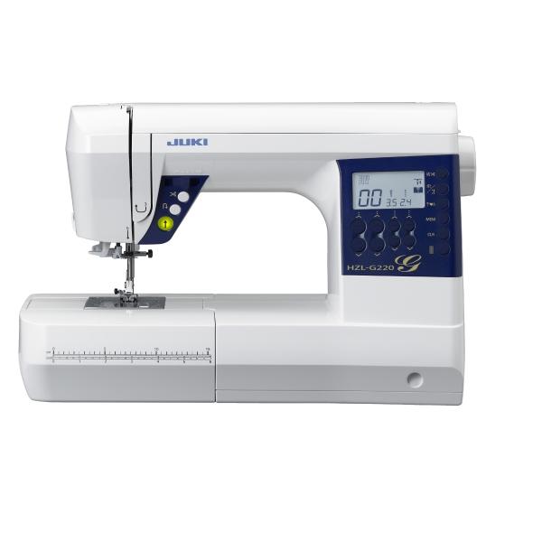 Швейная машина Juki HZL-G220Швейные машины<br><br><br>Тип: компьютерная<br>Тип челнока: ротационный горизонтальный<br>Вышивальный блок: нет<br>Количество швейных операций: 180<br>Выполнение петли: автомат<br>Максимальная длина стежка: 5.0 мм<br>Максимальная ширина стежка: 7.0 мм<br>Потайная строчка : есть<br>Эластичная строчка : есть<br>Эластичная потайная строчка: есть